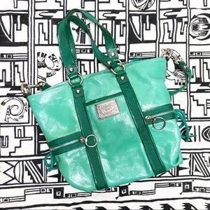 🌿 Coach Poppy Green Handbag with Shoulder Strap